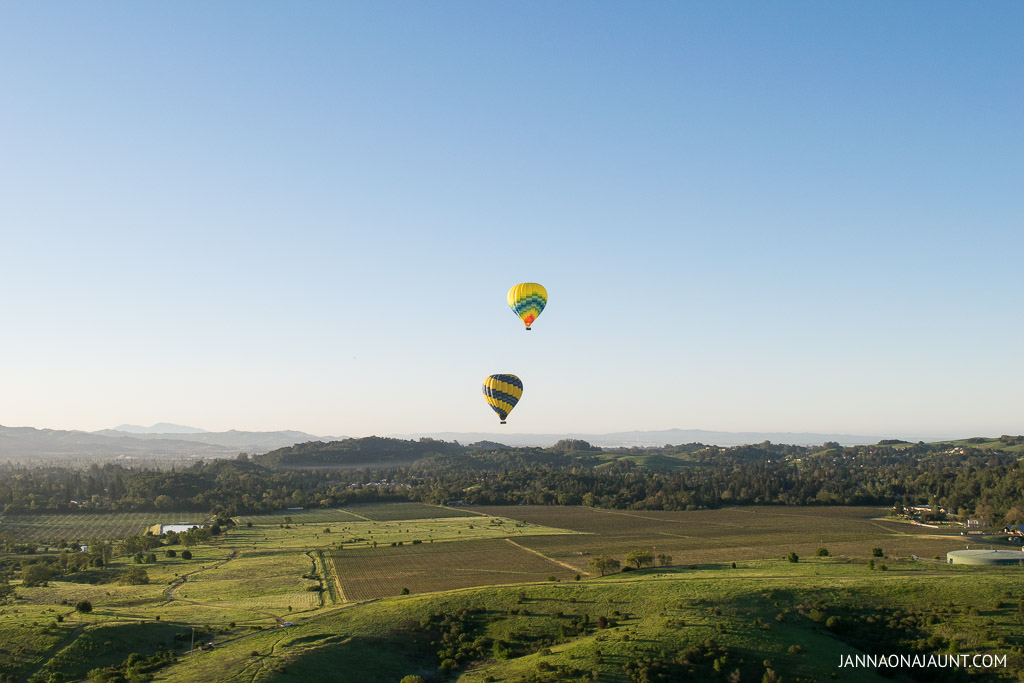Soaring above Wine Country: Hot Air Balloon Ride in Napa